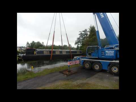 Quinn Crane Hire - River Barge Lift