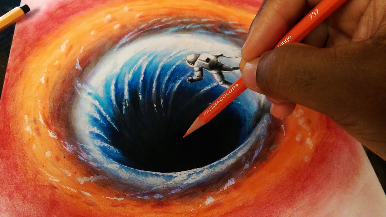3D Black Hole Drawing - Part 1/2 - Sketch - YouTube