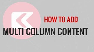 How to Add Multi Column Content in WordPress Posts - No HTML Required