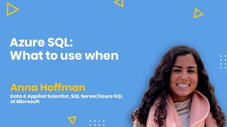 Azure SQL: What to use when - AMA