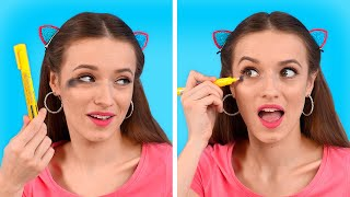 GENIUS MAKEUP HACKS FOR YOUR BEAUTY ROUTINE || Beauty Hacks And Girly Tips by 123 Go! Live