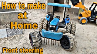 How to make tractor front steering at Home