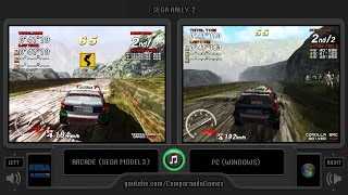 Sega Rally 2 (Arcade vs Pc) Side by Side Comparison