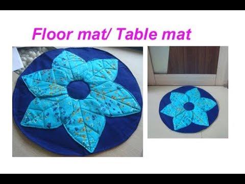 DIY handmade Table mat /placement/floor mat/door mat/carpet/area rug/best craft idea