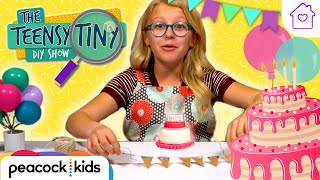 DIY Mini Birthday Cake | Kids Crafts at Home | TEENSY TINY DIY SHOW #stayhome #withme
