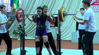 Екатерина Иванина,приседания 162,5кг