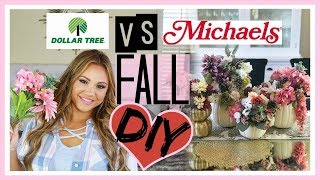 Dollar Tree vs Michaels DIY! Fall Pumpkin Flower Centerpiece