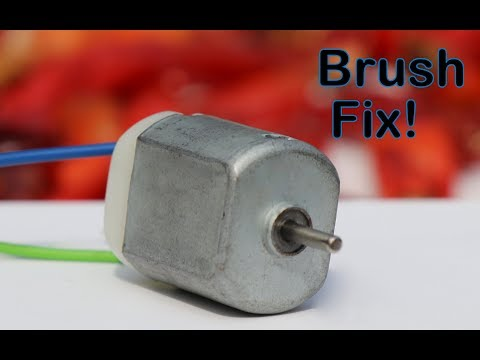 How to Repair Small DC MOTOR in 3 Minutes || Fix Broken Brush