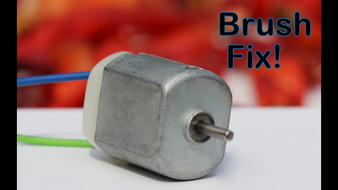 how to repair small dc motor in 3 minutes fix broken brush [ 1280 x 720 Pixel ]