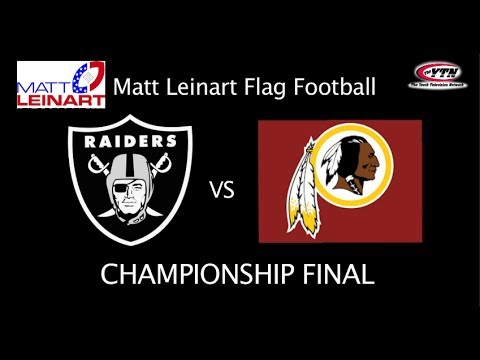 Raiders vs Redskins - Matt Leinart Flag Football Championship