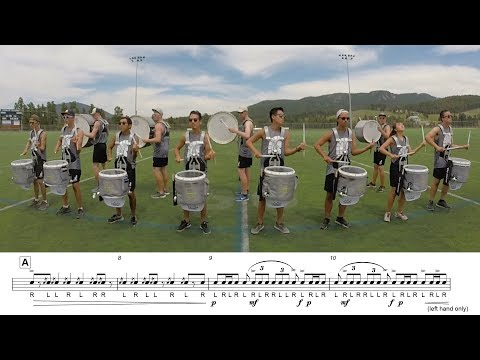 2017 Blue Knights Snares - LEARN THE MUSIC to