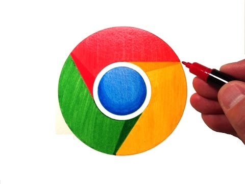 How To Draw The Google Chrome Logo