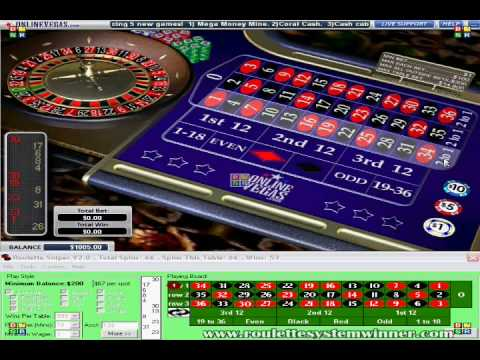 Video Roulette outside bets strategy
