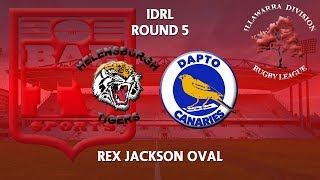 2018 Illawarra RL 1st Grade Round 5 - Helensburgh Tigers v Dapto Canaries