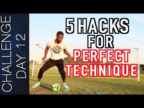 TOP 5 HACKS TO PRO LEVEL FOOTBALL SKILLS | Day 12
