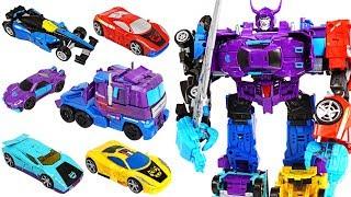 Transformers Generations Combiner Wars Menasor 6 combine: truck, racing cars! - DuDuPopTOY