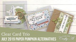 Clear Card Trio | July 2019 Paper Pumpkin Alternatives