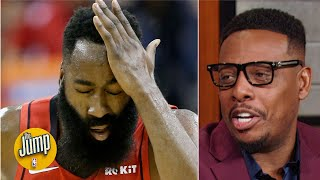 I won't be blown away by James Harden's stats until he starts averaging 40 - Paul Pierce | The Jump