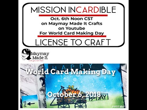 Maymay Made It's World Card Making Day Hop: Masculing Birthday