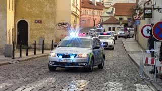 president of china xi jinping in prague motorcade to prague castle