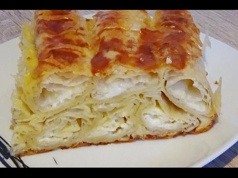 Brza Pita sa sirom i gotovim korama malo drugi nacin slaganja