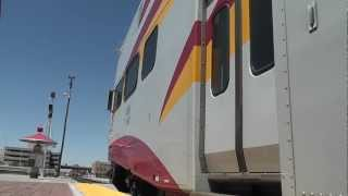 New Mexico Rail Runner Express Approaching Downtown Albuquerque Transit Center