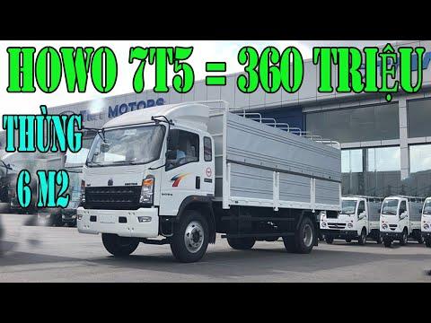 Thanh lý xe tải howo 7.5 tấn đời tồn giá 360 triệu | xe tải 7t5 howo| giá xe tải howo 7t5 đời 2017