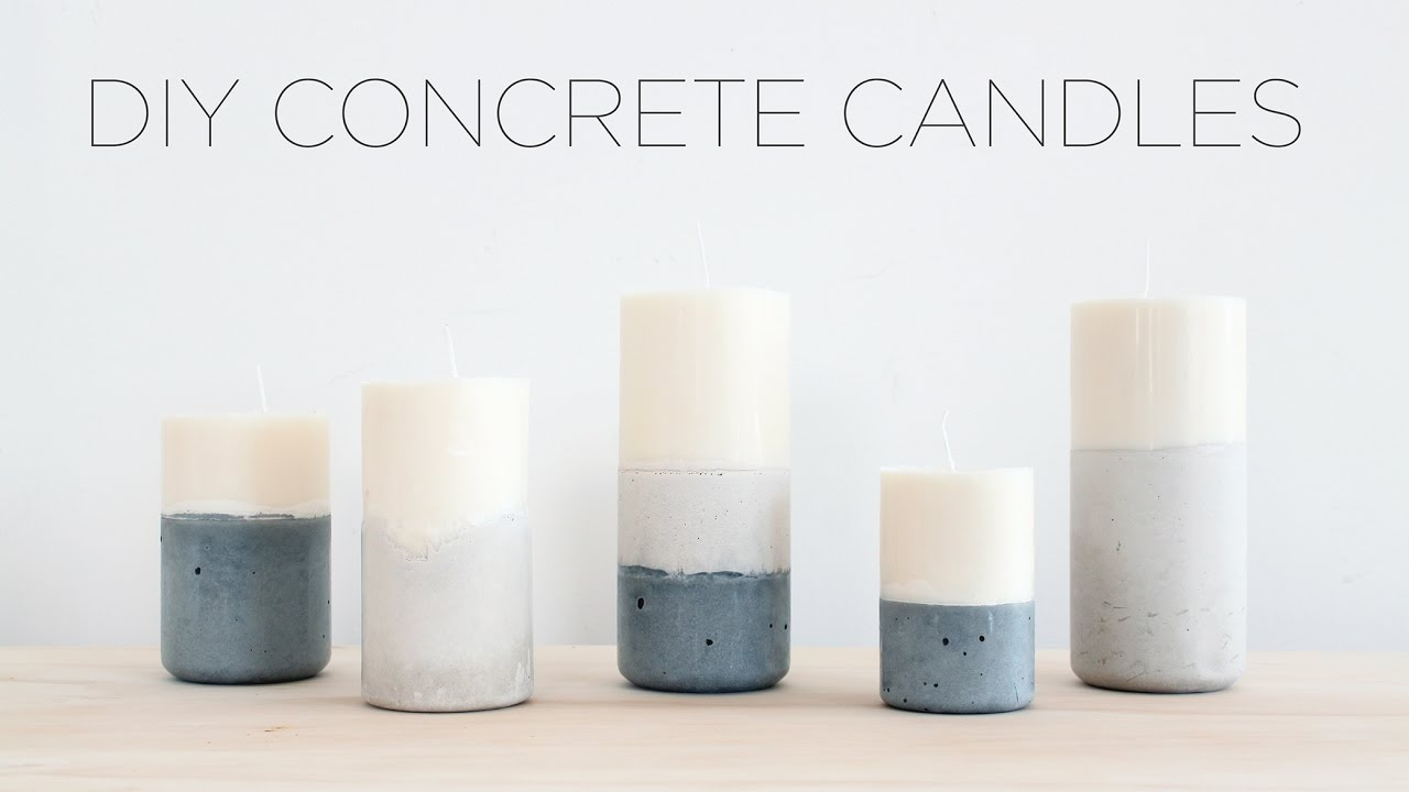 Diy Candles With Concrete Bases Youtube