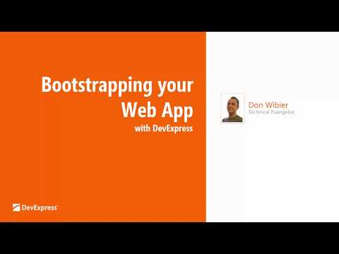 Bootstrapping Your Web App with DevExpress