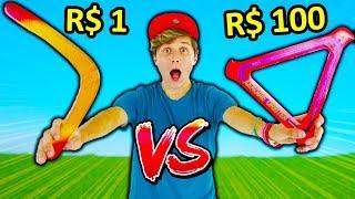 QUAL É MELHOR ? ☆ BOOMERANG DE $1 VS BOOMERANG DE $100 ? ☆