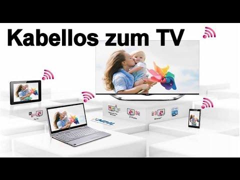 Grundig Fernseher Mit Laptop Verbinden : Pc kabellos an den smart tv übertragen youtube