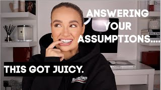 ANSWERING YOUR JUICY ASSUMPTIONS! PLANNING A BABY? BROKEN FRIENDSHIPS? MONEY£££? | MOLLY-MAE
