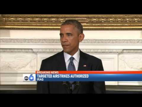 President Obama Authorizes Airstrikes in Iraq, Sends Humanitarian Aid