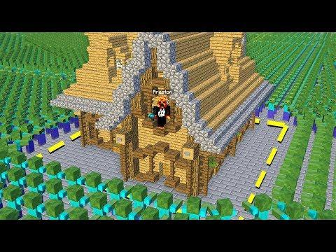 MINECRAFT 100,000 ZOMBIES vs HOUSE! - Minecraft Mods