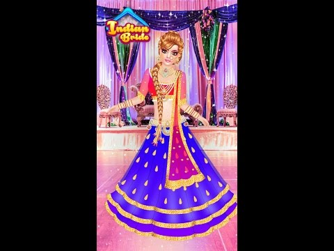 Indian doll  bridal collection Dress up a bride girls game kids game