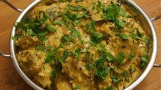 Curry - Fresh Tuna with Cream n Almonds recipes - indian Korma Khorma Fish