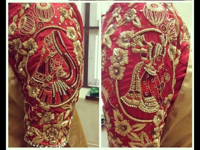 new theme bride and groom blouses designs