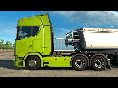 Euro Truck Simulator 2 Italia DLC - Dump Trailer from Cassino |