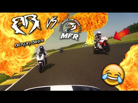 MrFunRacing destroys Berlin Bikes on the Track 😂 | R6 vs Fireblade