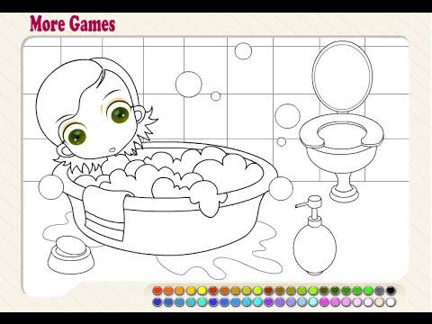 Bubble Bath Coloring Pages For Kids - Bubble Bath Coloring Pages