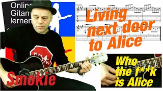 Living next door to Alice Smokie Guitar lesson Gitarre lernen 🎸