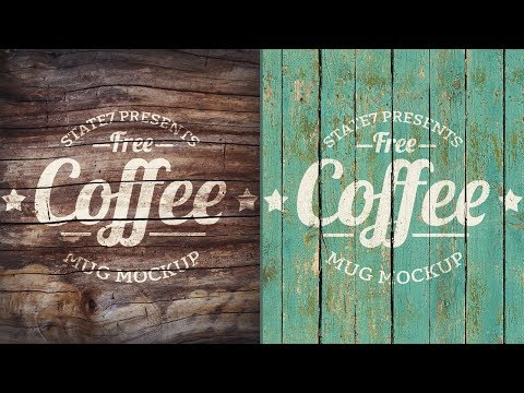 Photoshop Tutorial - Vintage Wood Logo Effect