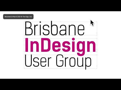 Brisbane InDesign User Group 2018-03 — Fun With Vectors