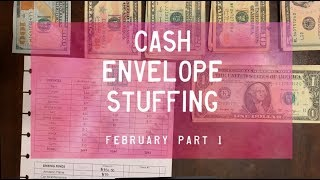 Cash Envelope Stuffing, February pt. 1 | Part-Time | Dave Ramsey Inspired | BudgetWithBri