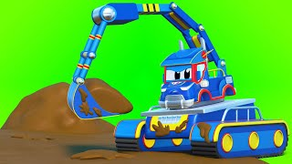 Truck cartoons for kids -  The SUPER excavator saves the farm - Super Truck in Car City !