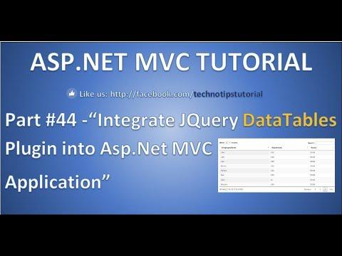 Part 44- Integrate JQuery DataTables plugin into Asp.Net ...