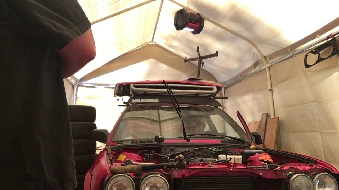BMW 325e E30 LS1 swap start up, open heads