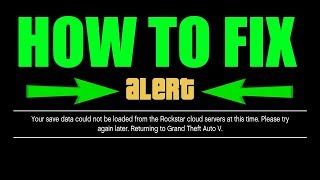 (Xbox One) GTA 5 How To Fix your save data could not be loaded from the Rockstar cloud servers