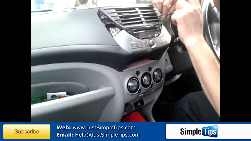 Radio Removal Nissan Pixo Justaudiotips Youtube