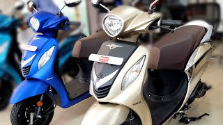 2018 Yamaha Fascino   New Colours   Gold & Matte Blue   Walkaround   Price   Mileage   Features